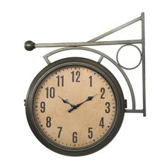 Found it at Wayfair - Turn of the Century Metal 2-Sided Station Clock