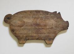 Antique Pig Cutting Board
