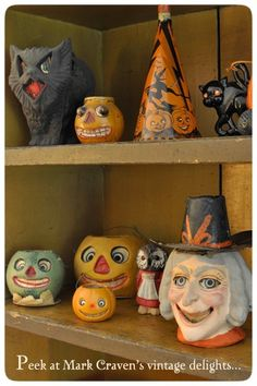 Vintage Halloween display by Mark Craven a friend of mine.