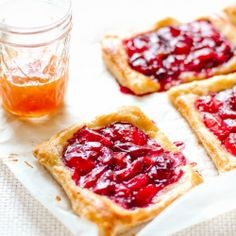Sweet little plum tarts.