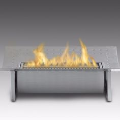 Eco-Feu Ethanol Insert for Traditional Fireplace - Stainless Steel (FS-00115-SS)
