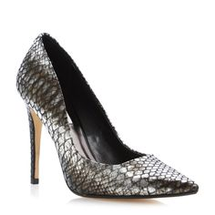 DUNE LADIES BROOK - Extreme Pointed Toe Court Shoe - pewter | Dune Shoes Online