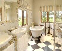 One of the En-suite bathrooms at Long Hope Villa. Clawfoot Bathtub, Corner Bathtub, South Africa, Bathrooms, National Parks, Elephant, Villa, River, Bathroom