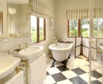 One of the En-suite bathrooms at Long Hope Villa. River Bend Lodge, Addo Elephant National Park, South Africa.