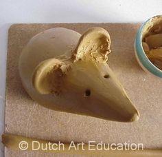 Muis maken met klei - Stap voor stap