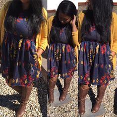 Fall Outfits, LulaRoe Styles, Amelia Dress, Style Tips  Cardigan: Mossimo Dress: LulaRoe Amelia Boots: Steve Madden