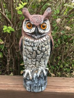 Vintage Large Realistic Owl by JustClickThreeTimes on Etsy