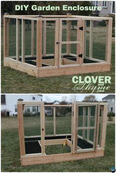 DIY Raised Bed Garden Enclosure-20 DIY Raised Garden Bed Ideas Instructions  #Gardening, #Woodworking