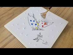 How To Draw Abstract Butterfly Painting / Acrylic /Technique / Relaxing / Days Challenge(Day#213)