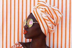 orange and white stripes