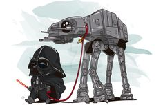 """AT-AT Walk"" by James Marcia, signed 11X17 print"
