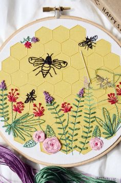 Embroidery Kit - Bee Lovely