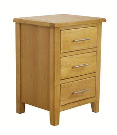 Nebraska Modern Oak - 3 Drawer Bedside Table / Bedroom Furniture / Lamp Cabinet…