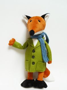Mister Fox - Woodland Softie - The sophisticated Plush Fox - Soft Sculpture - Stuffed Animal