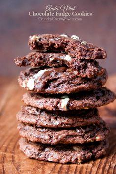 Andes Mint Chocolate Fudge Cookies Recipe - Crunchy Creamy Sweet @Anna | Crunchy Creamy Sweet