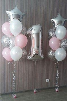 19 trendy birthday party princess balloons - Decoration For Home 1st Birthday Girls, Unicorn Birthday Parties, First Birthday Parties, Birthday Celebration, Birthday Party Themes, First Birthday Balloons, Birthday Ideas, Balloon Decorations, Birthday Decorations