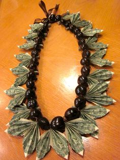 Unique and gorgeous Graduation Money Lei by PCbyMarilyn on Etsy