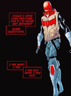 Way to be all philosophical red, I don't know what comic this id