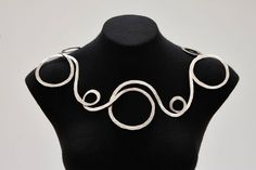 Very cool necklace by Alexander Calder. Unique jewelry piece, amazingly unusual necklace.