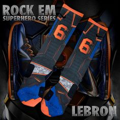 "Rock Em Apparel Custom Nike Elite Socks ""Superhero"" Series"