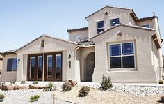 White stucco - Rio Rancho, New Mexico #DRHorton #FindYourHome