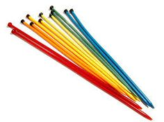 Rainbow needles! #knit #knitting #artofknitting