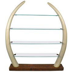 lucite faux elephant tusk table as a desk :)   clearly vintage