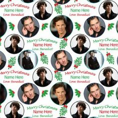 Benedict Cumberbatch Personalised Christmas Gift Wrap / Wrapping Paper. Add your personalisation (NAME up to 15 characters) in the gift mess...