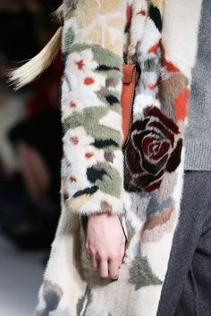 Fantastic patchwork mink at Valentino F/W 2014. Reminds me of a younger, more modern Zuki fur.