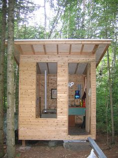 how to make an outdoor toilet