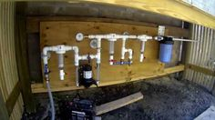 How to Filter and Purify Rainwater ( Earthship Style WOM ) Earthship, Home Water Filtration, Water Catchment, Water Purification, Water From Air, Rain Collection, Water Collection System, Rainwater Harvesting, Water Storage