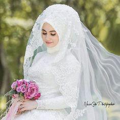 Dear Nancy Wiesinger is a sweet world Merv … - Wedding Dresses Bridal Hijab, Muslim Wedding Dresses, Hijab Bride, Muslim Brides, Wedding Hijab, Evening Dresses For Weddings, Wedding Dresses For Girls, Princess Wedding Dresses, Bridal Dresses