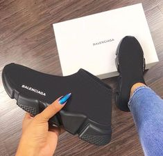 Balenciaga Sneaker shoes, and black Cute Shoes, Me Too Shoes, Women's Shoes, Shoe Boots, Comfy Shoes, Shoes Men, Flat Shoes, Oxford Shoes, All Black Balenciaga