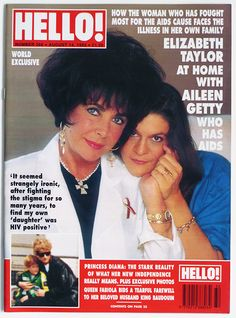 HELLO! Magazine Issue 266 Liz Taylor & Aileen Getty, Princess ...