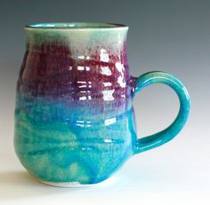 Large Porcelain Coffee Mug 24 oz handmade ceramic cup by ocpottery, $30.00