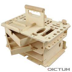 Caixa de Ferramentas / The same toolbox, without tools Japan tool rack Workshop Storage, Workshop Organization, Tool Storage, Lumber Storage, Storage Ideas, Woodworking Workshop, Woodworking Projects, Router Woodworking, Industrial Design Schools