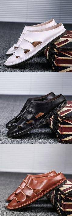e718d4a905e Handsome Summer Outdoor Men Open-toe Leather Sandal High Quality Beach Shoes