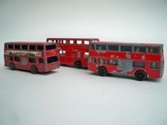 Instant collection of toy London Buses, red buses by PrattsPatch on Etsy https://www.etsy.com/listing/226282527/instant-collection-of-toy-london-buses