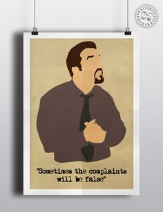 DAVID BRENT Minimalist Poster Art Posteritty Office Ricky Gervais The Dance