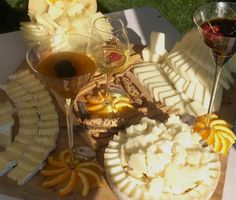> cocktail cheese corner | assortment of cheeses matched to jams, honeys, wines and fruit