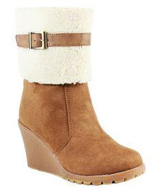 Love wedges.  They're so comfi.  Look at this #zulilyfind! Chestnut Janice Wedge Boot by Reneeze #zulilyfinds