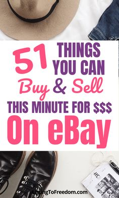 Looking to make some quick cash? Here's 51 things you buy and sell for money on eBay. These are the best selling items based on sale price and number sold every day. Learn how you can make money buying and selling (aka reselling) and flipping thrift store items. | #makemoneyfast | #makemoneyfromhome | #reselling | #ebaytips | #sidehustleideas