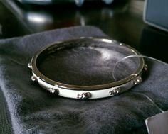 Alexander McQueen - Enameled Skull Bangle bracelet New! - http://designerjewelrygalleria.com/alexander-mcqueen/alexander-mcqueen-enameled-skull-bangle-bracelet-new/