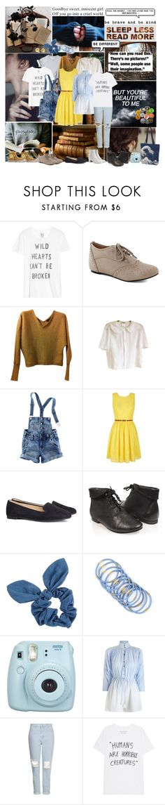 """""""Belle (Beauty And The Beast )"""" by smol-snowflake ❤ liked on Polyvore featuring Zoe Karssen, BCBGMAXAZRIA, H&M, Yumi, Forever 21, Dorothy Perkins, Marc by Marc Jacobs, Converse, Berry and Fujifilm"""