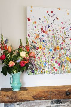 Yvonne Coomber - Contemporary Artwork, Painting & Prints - Yvonne Coomber – Contemporary Artwork, Painting & Prints wild flower paintings creating a sense of spring Flower Painting, Floral Wall Art, Wildflower Paintings, Watercolor Flowers Paintings, Artwork Prints, Easy Flower Painting, Flower Painting Canvas, Canvas Painting, Artwork Painting