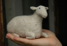 a sheep - in a hand.
