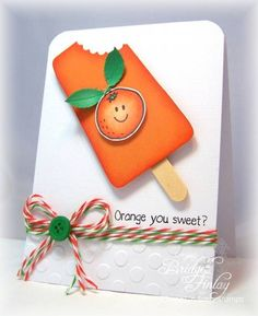 CAS185 Orange you Sweet! by bfinlay - Cards and Paper Crafts at Splitcoaststampers