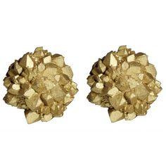 Gold light burst earrings