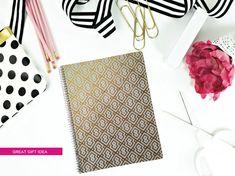 Gold Foil Effect Notebook/Journal/Spiral Bound by effiespaper