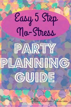 5 steps to a stress-free, budget friendly party plan. Party Planning Guide tells you where to start and how to have a fun party that's budget friendly. Five steps to stress-free, budget-friendly party planning! Jojo Siwa Birthday, Barbie Birthday Party, Trolls Birthday Party, Frozen Birthday Party, Unicorn Birthday Parties, 21st Birthday, Birthday Ideas, Troll Party, Unicorn Party